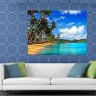 Paradise Palms Sea Beautiful Ocean Tropical Beach HUGE 48x36 Print POSTER
