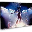 Queen Rare Freddie Mercury Stage Move Band 50x40 Framed Canvas Print
