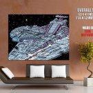 Millennium Falcon Imperial Destroyer Star Wars Giant Huge Print Poster