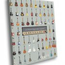 A Visual Compendium Of Guitars Music Art 50x40 Framed Canvas Print