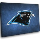 Carolina Panthers Football Logo Hockey Sport Art 50x40 Framed Canvas Print