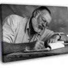 Ernest Hemingway Writer Glasses Drafts Notes 50x40 Framed Canvas Print