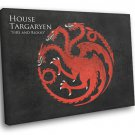 House Targaryen Logo Sigil Game Of Thrones 30x20 Framed Canvas Print