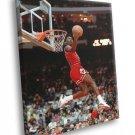 Michael Jordan Slam Dunk Contest Chicago Bulls Retro 30x20 Framed Canvas Print