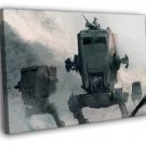 AT ST Walkers Snowtrooper Hoth Star Wars Art 30x20 Framed Canvas Print