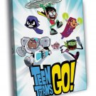 Teen Titans Go Cartoon TV Series Art 30x20 Framed Canvas Print