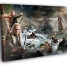 Hobbit Movie Smaug Dwarves Thorin Bard Legolas 30x20 Framed Canvas Print