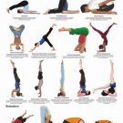 Yoga Chart Inversions Relaxation Positions Asana 24x18 POSTER