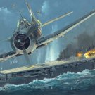 Zuiho Class Aircraft Carrier World War 2 Painting 24x18 Print Poster