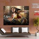 Wonder Woman Superheroine Brunette Comics Giant Huge Print Poster
