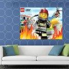 Lego City Firefighter Fireman Kids Art HUGE 48x36 Print POSTER