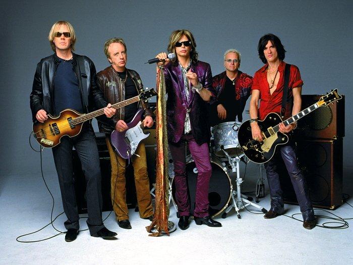 Aerosmith Steven Tyler Guitars Retro Rock Metal Band 16x12 Print POSTER
