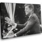 American President John F Kennedy Speech 50x40 Framed Canvas Art Print