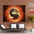 Mortal Combat Video Game LOGO Dragon Fire Giant Huge Print Poster