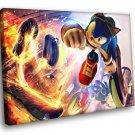 Sonic The Hedgehog Cartoon 50x40 Framed Canvas Art Print