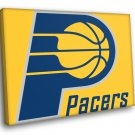 Indiana Pacers Logo Basketball Sport Art 50x40 Framed Canvas Print