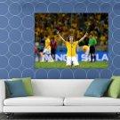 David Luiz Awesome World Cup Brazil Soccer Football HUGE 48x36 Print POSTER