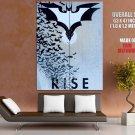 Batman Logo Dark Knight Rises Cool Art Artwork Giant Huge Print Poster