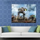 Mechwarrior Online Cicada MWO Battletech Mech Game Art HUGE 48x36 Print POSTER
