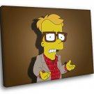 Bart Simpson Nerd Glasses Cool Funny Movie Art 30x20 Framed Canvas Print