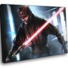 Darth Maul Sith Lightsaber Star Wars Art 50x40 Framed Canvas Print