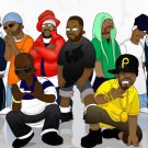 Wu Tang Clan Art Hip Hop Rap Music 32x24 Wall Print Poster