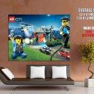 Lego City Police Chase Kids Art GIANT Huge Print Poster
