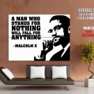 Malcolm X Quote Giant Huge Print Poster
