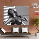 Kate Upton Hot Sexy Breast Beach Model BW Giant Huge Print Poster