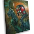 Dredd 2012 Movie Judge Awesome Painting Art 50x40 Framed Canvas Print