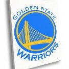 Golden State Warriors Logo Basketball Sport Art 50x40 Framed Canvas Print