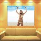 Kate Upton Sexy Bikini Hot Body Beach Sky Model Huge Giant Print Poster