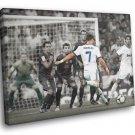 Cristiano Ronaldo Free Kick Real Madrid Football 30x20 Framed Canvas Print
