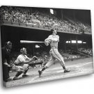 Stan Musial St Louis Cardinals Vintage Retro BW 30x20 Framed Canvas Print