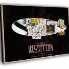 Led Zeppelin Rock Band Art Music 30x20 Framed Canvas Print