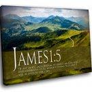 Bible Verses James 1 5 Motivation 30x20 Framed Canvas Art Print