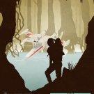 Star Wars Empire Strikes X Wing Yoda Luke Art 32x24 Print Poster