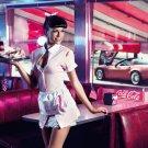 Girl American Waitress Pin Up Coca Cola Sexy Babe 32x24 Print Poster