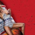 Budweiser Beer Hot Girl Drops Blebs 24x18 POSTER