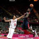 LeBron James Monster Dunk Posterize Olympics 16x12 Print Poster