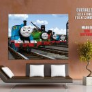 Thomas The Tank Engine Friends Cool Cartoon Art Kids GIANT Huge Print Poster