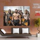 Vikings TV Series Battle Clive Standen Rollo GIANT Huge Print Poster
