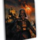 Darth Vader Stormtrooper AT ST Star Wars Movie 50x40 Framed Canvas Print