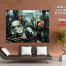 Stormtroopers Yavin 4 Battle Fight Star Wars Art Giant Huge Print Poster