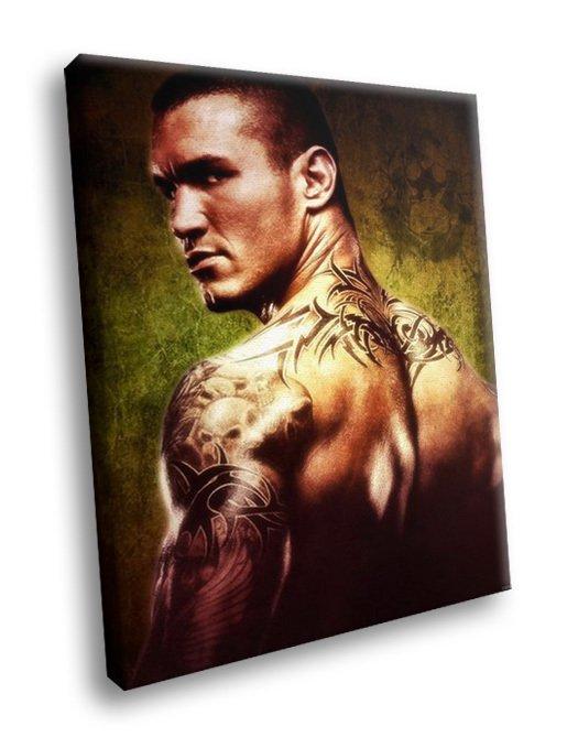 Randy Orton American Wrestler Champion Tattoo 30x20 Framed Canvas Art Print