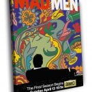 Mad Men Tv Series Art Painting 30x20 Framed Canvas Print