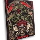 Gremlins Movie 1984 Gizmo Cool Art Artwork 40x30 Framed Canvas Print