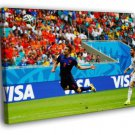 Robin Van Persie Diving Header Goal Jump 2014 50x40 Framed Canvas Print