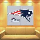 New England Patriots Football Logo Hockey Sport Art Huge Giant Print Poster