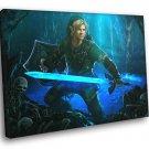 The Legend Of Zelda Link Sword Fantasy Art 50x40 Framed Canvas Print